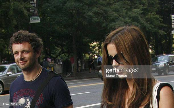 Michael Sheen and Kate Beckinsale during Kate Beckinsale Sighting New York City June 20 2006 in New York City New York United States