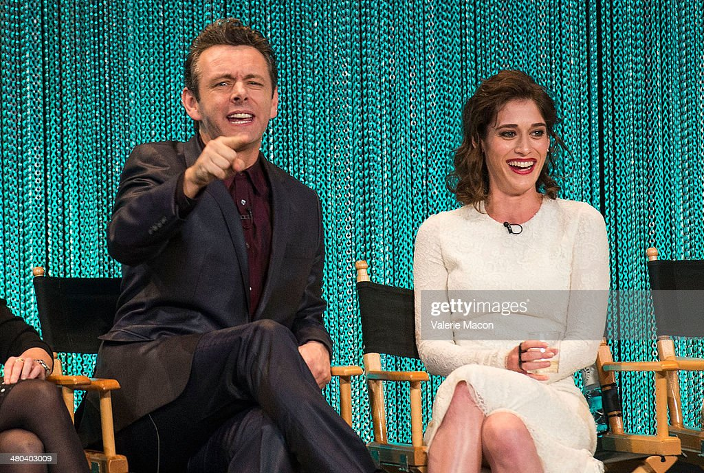 <a gi-track='captionPersonalityLinkClicked' href=/galleries/search?phrase=Michael+Sheen&family=editorial&specificpeople=213120 ng-click='$event.stopPropagation()'>Michael Sheen</a> (L) and <a gi-track='captionPersonalityLinkClicked' href=/galleries/search?phrase=Lizzy+Caplan&family=editorial&specificpeople=599560 ng-click='$event.stopPropagation()'>Lizzy Caplan</a> attend The Paley Center For Media's PaleyFest 2014 Honoring 'Masters Of Sex' at Dolby Theatre on March 24, 2014 in Hollywood, California.