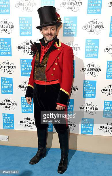 Michael Sheen attends the UNICEF Halloween Ball at One Mayfair on October 29 2015 in London England
