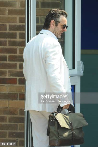 Michael Sheen during a visit to College House Junior School to unveil a plaque in memory of the late Richard Beckinsale who was a pupil at the school