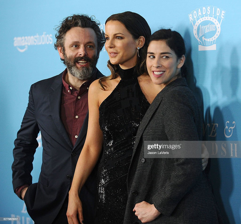 <a gi-track='captionPersonalityLinkClicked' href=/galleries/search?phrase=Michael+Sheen&family=editorial&specificpeople=213120 ng-click='$event.stopPropagation()'>Michael Sheen</a>, <a gi-track='captionPersonalityLinkClicked' href=/galleries/search?phrase=Kate+Beckinsale&family=editorial&specificpeople=202911 ng-click='$event.stopPropagation()'>Kate Beckinsale</a> and <a gi-track='captionPersonalityLinkClicked' href=/galleries/search?phrase=Sarah+Silverman&family=editorial&specificpeople=241299 ng-click='$event.stopPropagation()'>Sarah Silverman</a> attend the premiere of 'Love and Friendship' at Directors Guild Of America on May 3, 2016 in Los Angeles, California.
