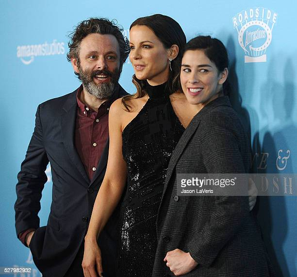 Michael Sheen Kate Beckinsale and Sarah Silverman attend the premiere of 'Love and Friendship' at Directors Guild Of America on May 3 2016 in Los...