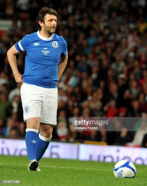 Michael Sheen participates in Soccer Aid in aid of UNICEF at Old Trafford on June 6 2010 in Manchester England
