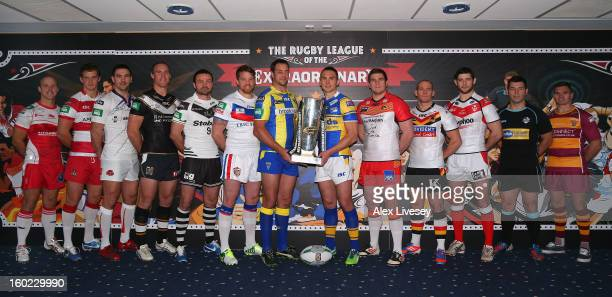 Michael Shenton of Castleford Tigers Sean O'Loughlin of Wigan Warriors Stephen Wild of Salford City Reds Gareth Ellis of Hull FC Jon Clarke of Widnes...