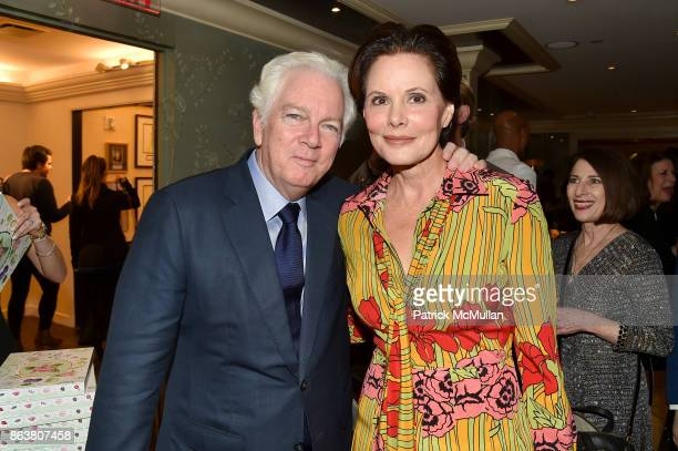Michael Shnayerson and Gayfryd Steinberg attend the launch of Second Bloom Cathy Graham's Art of the Table hosted by Joanna Coles and Clinton Smith...