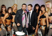 Michael Shulman and Jack Osbourne with Pussycat Dolls