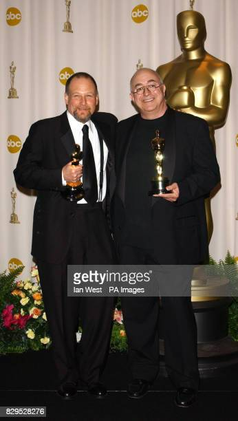 Michael Silvers and Randy Thom receive the Achievement In Sound Editing Award for The Incredibles