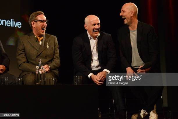 Michael Smiley Barry McGuigan and director Thomas Napper attend the 'Jawbone' UK premiere and QA at BFI Southbank on May 8 2017 in London United...