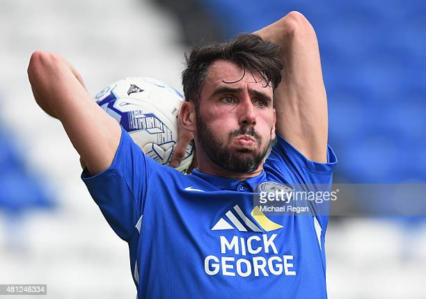 Michael Smith of Peterborough in action during the pre season friendly match between Peterborough United and a Tottenham Hotspur XI at London Road...