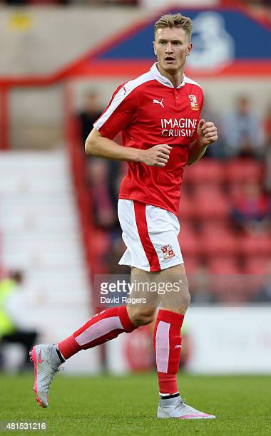 Michael Smith of Swindon Town looks on during the pre season friendly match between Swindon Town and Aston Villa at the County Ground on July 21 2015...