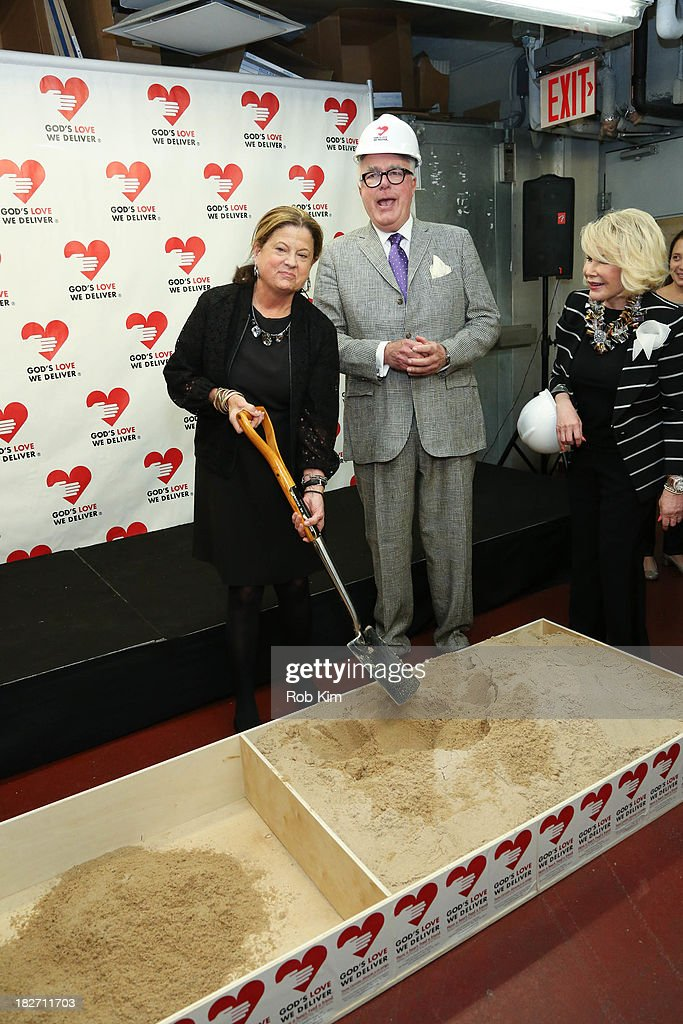 Michael Sonnett and guest attend the Expansion Project Groundbreaking Ceremony at God's Love We Deliver on October 2, 2013 in New York City.