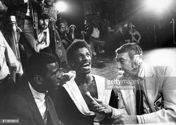 Michael Spinks Howard Cosell at Steel Pier March 8 1981