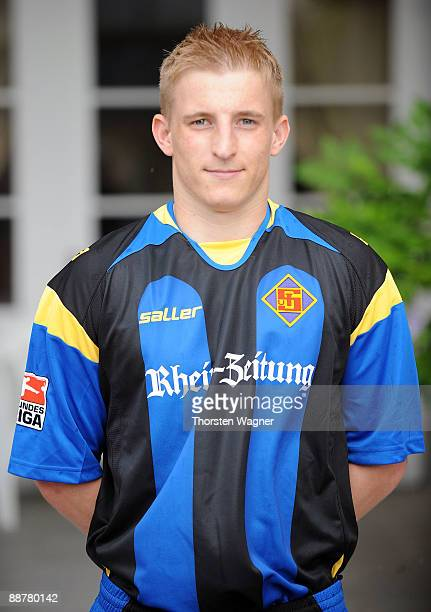 Michael Stahl poses during the TuS Koblenz team presentation on July 1 2009 in Bad Ems near Koblenz am Rhein Germany