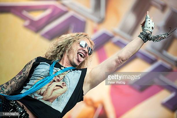 Michael Starr of Steel Panther performs on stage during the first day of Rock Am Ring on June 01 2012 in Nuerburg Germany