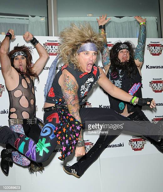 Michael Starr Satchel and Stix Zadinia of Steel Panther attend the Metal Hammer Golden Gods Awards 2010 at Indigo2 at O2 Arena on June 14 2010 in...