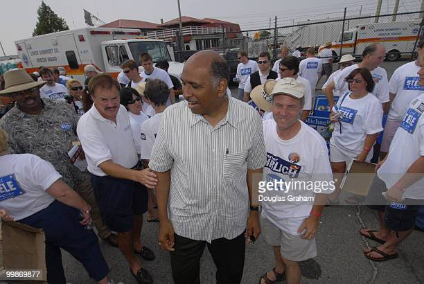 Michael Steele pressing the flesh during the 30th annual J Millard Tawes Crab and Clam Bake in Crisfield Maryland