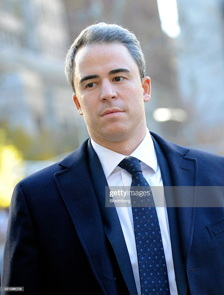 Michael Steinberg, a portfolio manager with SAC Capital Advisors LP, arrives at federal court in New York, U.S., on Thursday, Nov. 21, 2013. Steinberg reaped 'big money' on illicit tips on Dell Inc. and Nvidia Corp. funneled to him by his analyst, Jon Horvath, a prosecutor told a Manhattan federal jury. Photographer: Louis Lanzano/Bloomberg via Getty Images