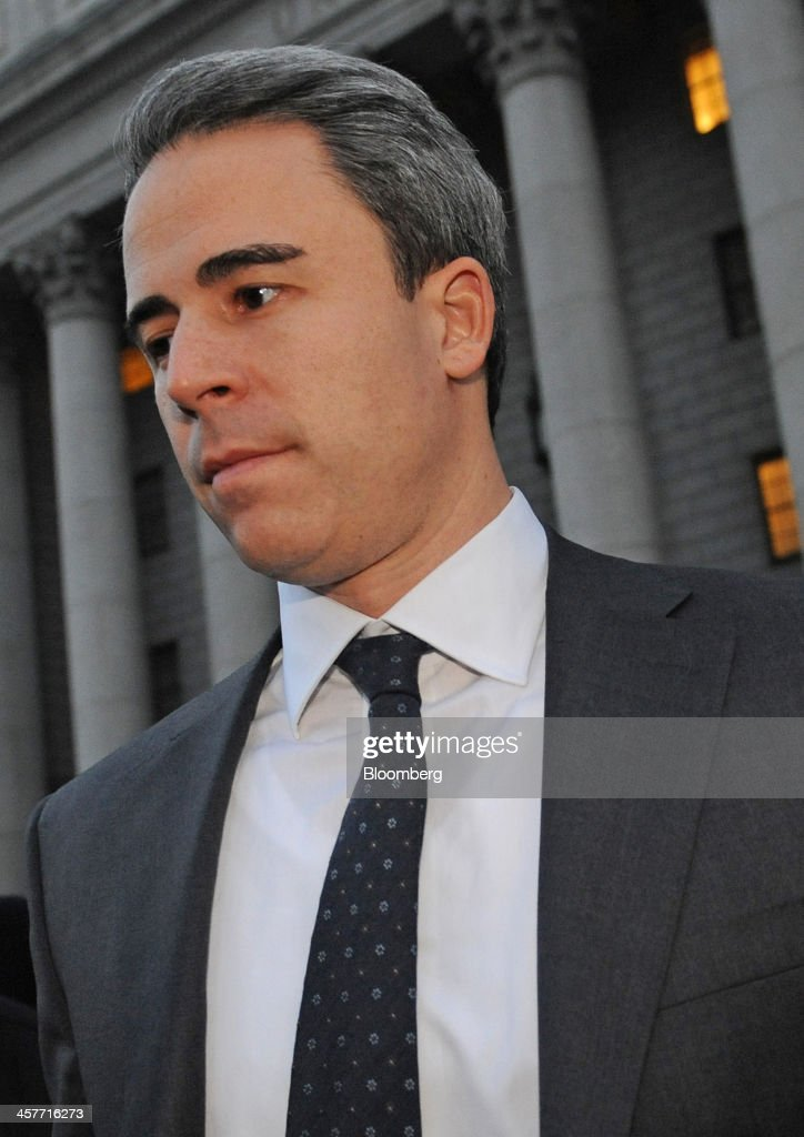 Michael Steinberg, a portfolio manager with SAC Capital Advisors LP, exits federal court in New York, U.S., on Wednesday, Dec. 18, 2013. Steinberg became the fund's longest-serving manager to be convicted of insider trading in a government victory that may increase pressure on his former colleague, Mathew Martoma, to cooperate in the U.S. investigation of founder Steven A. Cohen. Photographer: Louis Lanzano/Bloomberg via Getty Images
