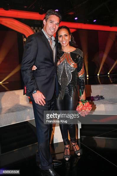 Michael Stich and Barbara Becker attend the Tribute To Bambi 2014 party on September 25 2014 in Berlin Germany