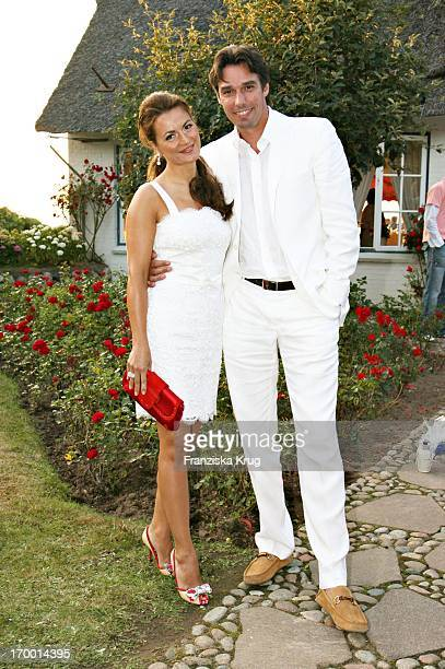 Michael Stich and wife Alexandra at The Traditional Food From Cancer Economia Manfred_Baumann boss in the house 'Catherine' on the island of Sylt...