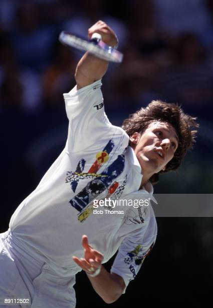 Michael Stich of Germany during the Australian Open Tennis Championships held in Melbourne Australia in January 1993