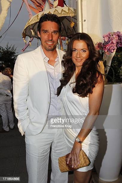 Michael Stich With Wife at the Alexandra 'Sylt Meets Ibiza' Party In Pony Kampen