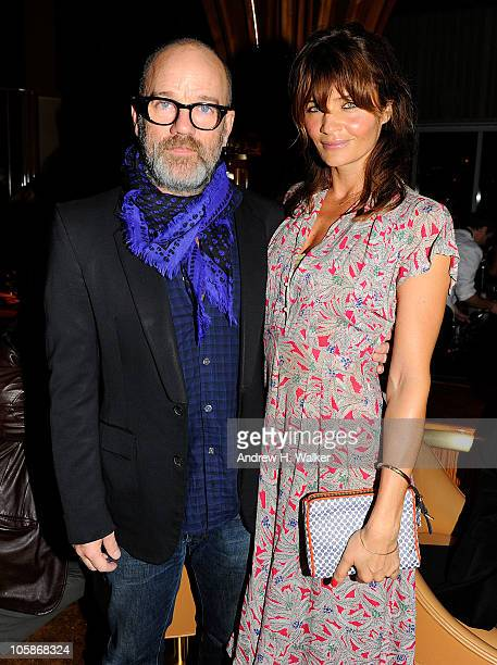 Michael Stipe and Helena Christensen attend the 2010 Free the Slave benefit at The Top of The Standard on October 20 2010 in New York City