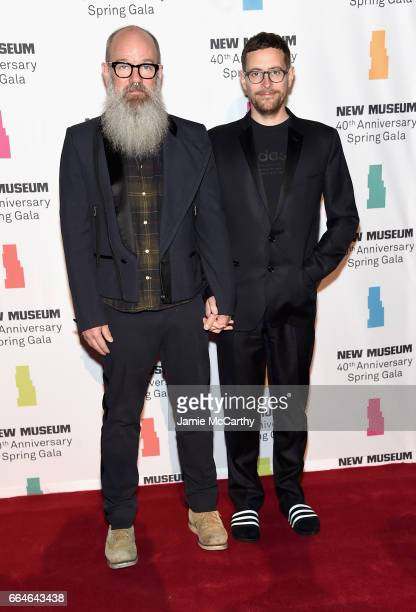 Michael Stipe and Thomas Duzol attend the New Museum 40th Anniversary Spring Gala at Cipriani Wall Street on April 4 2017 in New York City
