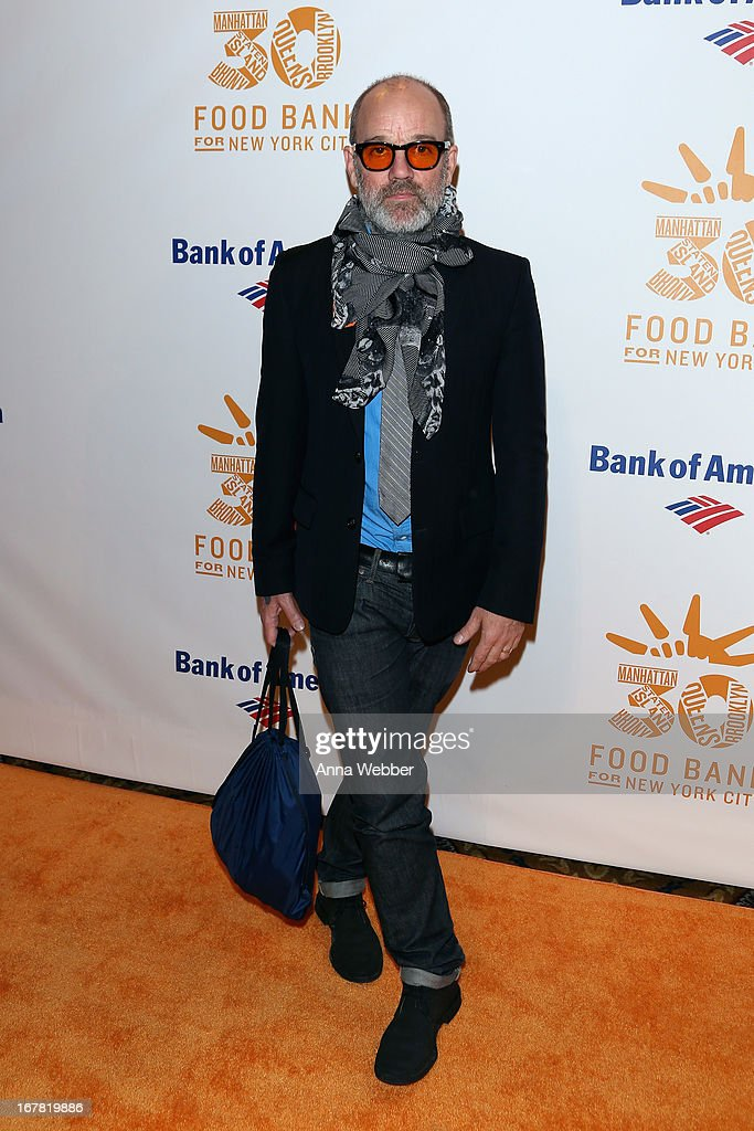 Michael Stipe arrives at the Food Bank For New York City's Can-Do Awards celebrating 30 years of service to NYC on April 30, 2013 in New York City.