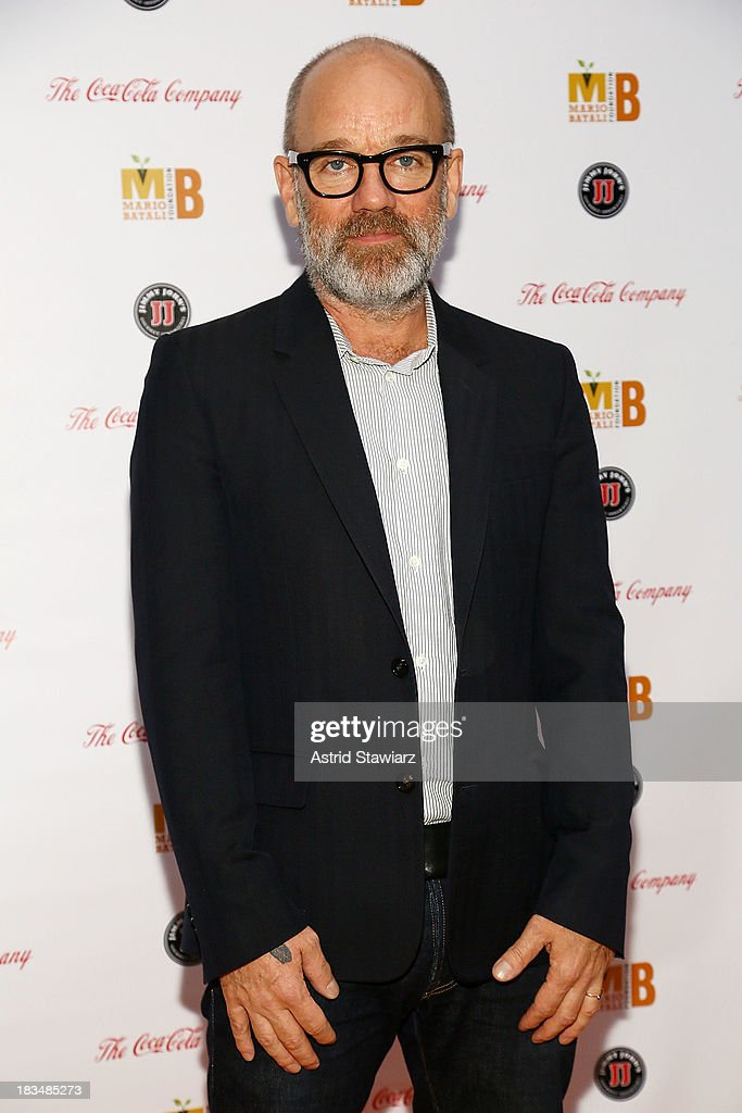 <a gi-track='captionPersonalityLinkClicked' href=/galleries/search?phrase=Michael+Stipe&family=editorial&specificpeople=178318 ng-click='$event.stopPropagation()'>Michael Stipe</a> attends 2nd Annual Mario Batali Foundation Honors Dinner at Del Posto Ristorante on October 6, 2013 in New York City.