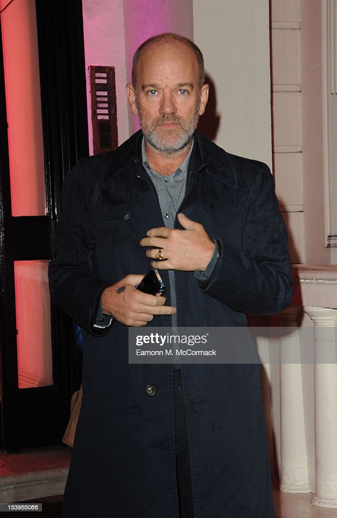 Michael Stipe attends a dinner hosted by W Magazine and Jimmy Choo on October 11, 2012 in London, England.
