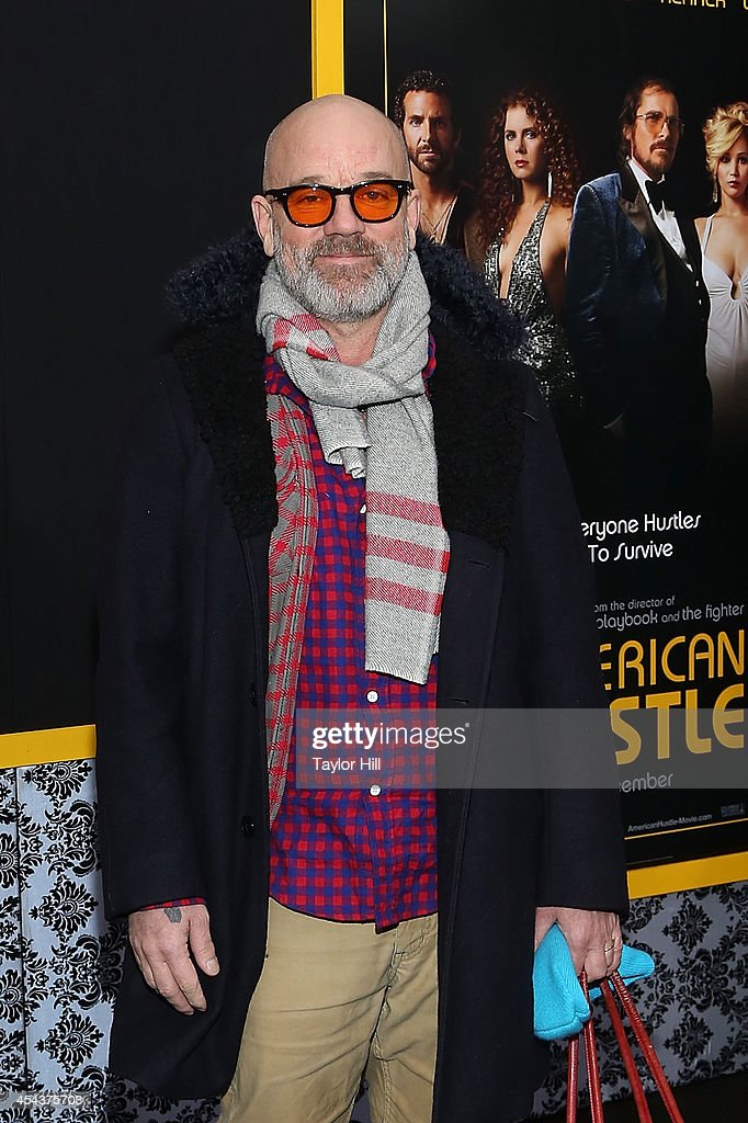 <a gi-track='captionPersonalityLinkClicked' href=/galleries/search?phrase=Michael+Stipe&family=editorial&specificpeople=178318 ng-click='$event.stopPropagation()'>Michael Stipe</a> attends the 'American Hustle' screening at Ziegfeld Theater on December 8, 2013 in New York City.