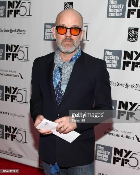 Michael Stipe attends the Closing Night Gala Presentation Of 'Her' during the 51st New York Film Festival at Alice Tully Hall at Lincoln Center on...