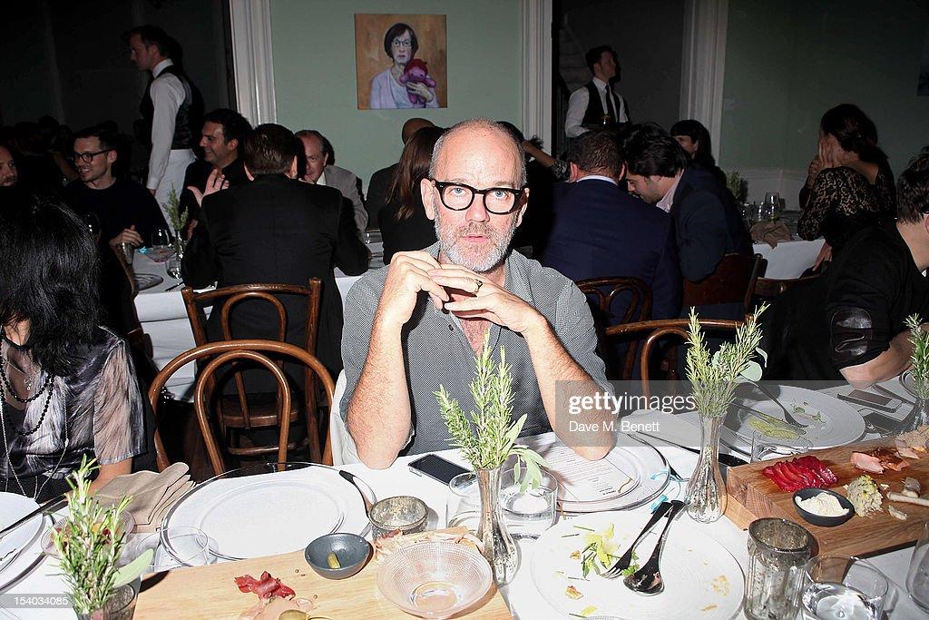 Michael Stipe attends the Instanbul'74 dinner celebrating artist Sandro Kopp's 'Mediated Presence' exhibtion on October 12, 2012 in London, England.