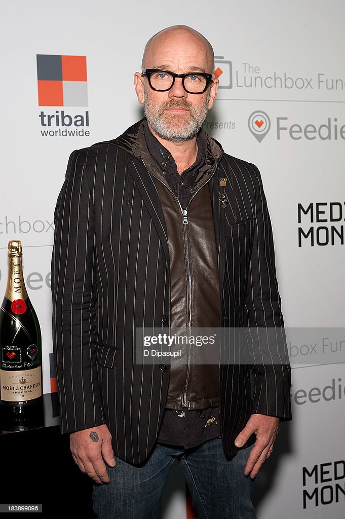 <a gi-track='captionPersonalityLinkClicked' href=/galleries/search?phrase=Michael+Stipe&family=editorial&specificpeople=178318 ng-click='$event.stopPropagation()'>Michael Stipe</a> attends the Lunchbox Fund Fall Fete 2013 at Buddakan on October 9, 2013 in New York City.