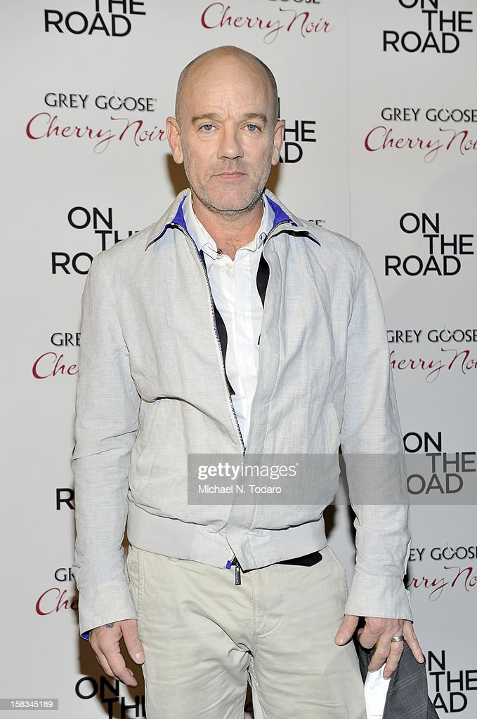 Michael Stipe attends the 'On The Road' premiere at SVA Theater on December 13, 2012 in New York City.