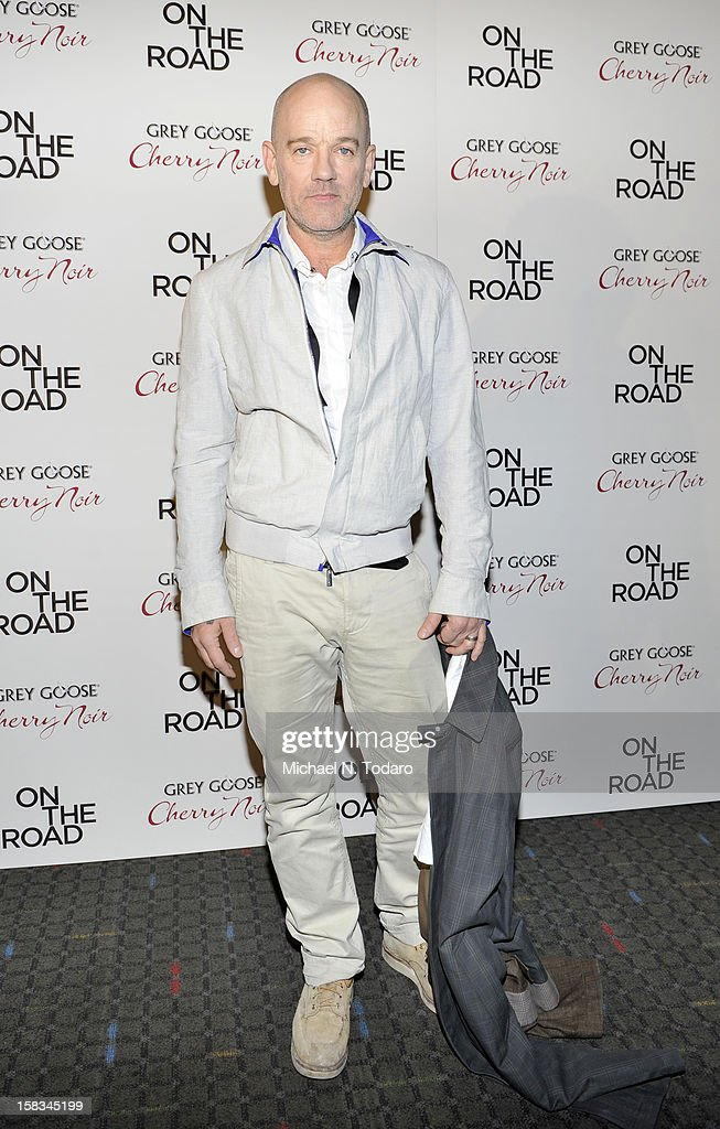 <a gi-track='captionPersonalityLinkClicked' href=/galleries/search?phrase=Michael+Stipe&family=editorial&specificpeople=178318 ng-click='$event.stopPropagation()'>Michael Stipe</a> attends the 'On The Road' premiere at SVA Theater on December 13, 2012 in New York City.