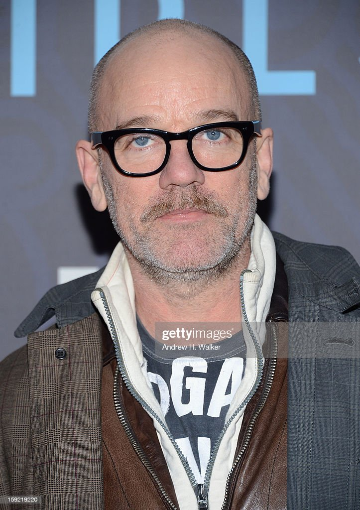 Michael Stipe attends the premiere of 'Girls' season 2 hosted by HBO at NYU Skirball Center on January 9, 2013 in New York City.