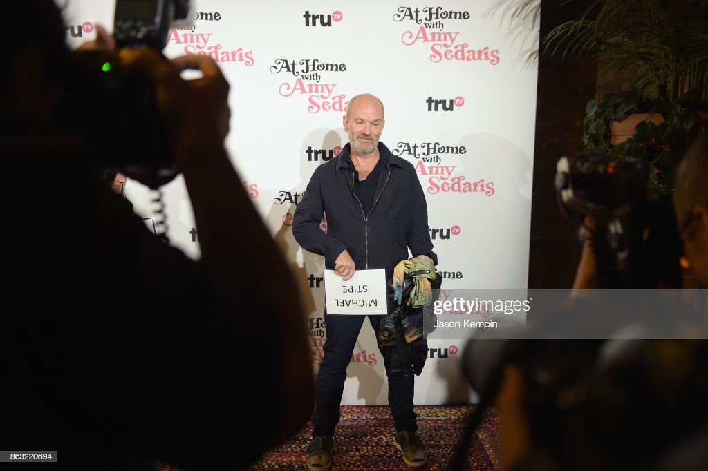 "Michael Stipe attends the premiere screening and party for truTV's new comedy series ""At Home with Amy Sedaris"" at The Bowery Hotel on October 19, 2017 in New York City. 27056_024."