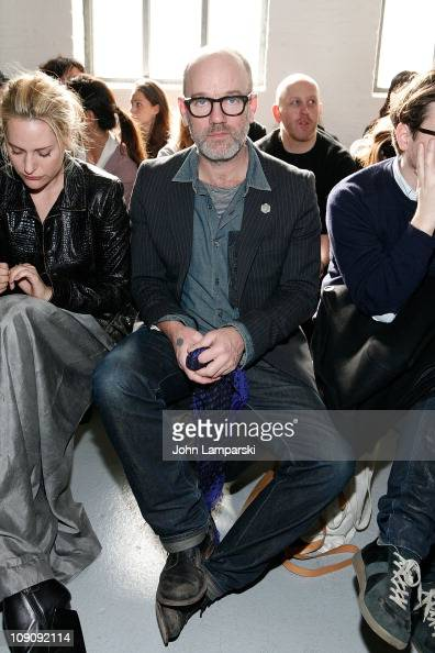 Michael Stipe attends the Theyskens' Theory Fall 2011 fashion show during MercedesBenz Fashion Week at Center 548 on February 14 2011 in New York City