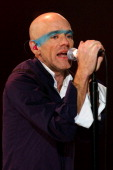 Michael Stipe during REM in Concert in Madrid at Pacha Club in Madrid Spain