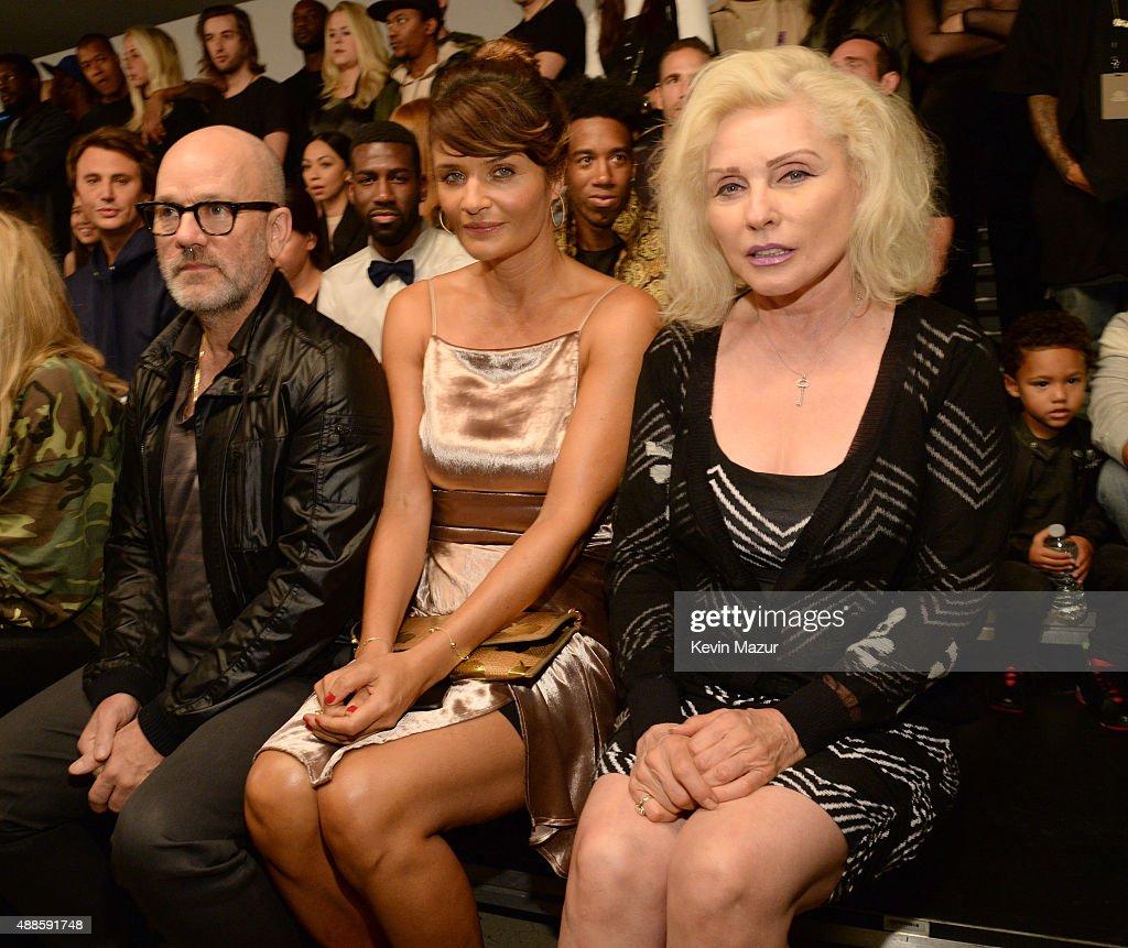 Michael Stipe, Helena Christensen and Debbie Harry attend Kanye West Yeezy Season 2 during New York Fashion Week at Skylight Modern on September 16, 2015 in New York City.