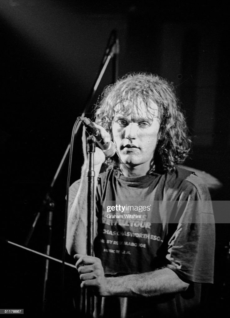 Michael Stipe lead singer of American guitar band REM on stage at the Marquee Club in London 1st May 1984