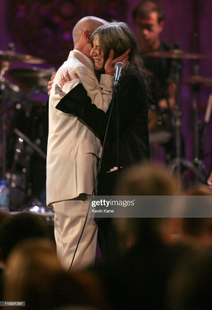 Michael Stipe of R.E.M. and Patti Smith perform 'I Wanna Be Your Dog'/ 'People Have the Power'