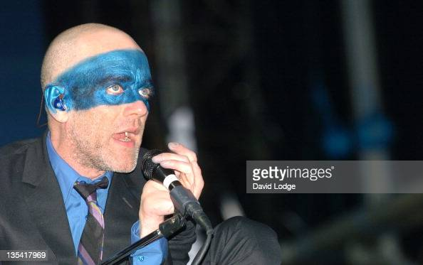 Michael Stipe of REM during 2005 Isle Of Wight Festival Day 3 Show at Seaclose Park in Newport Great Britain
