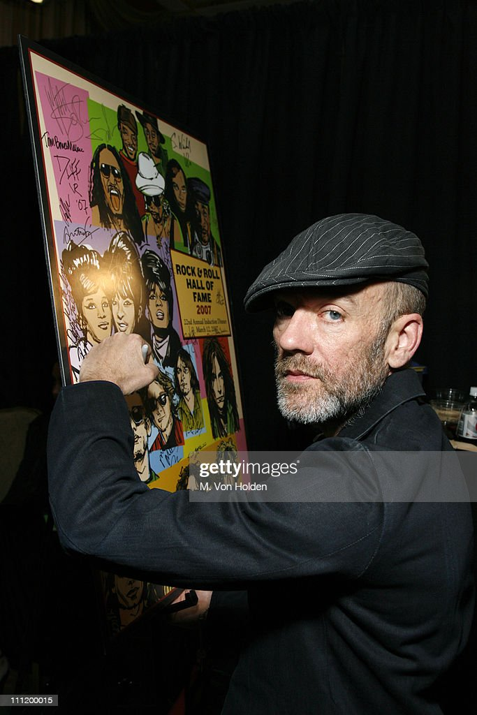 Michael Stipe of R.E.M. during 22nd Annual Rock and Roll Hall of Fame Induction Ceremony - On 3 Productions Gift Suite at Waldorf-Astoria in New York City, New York, United States.