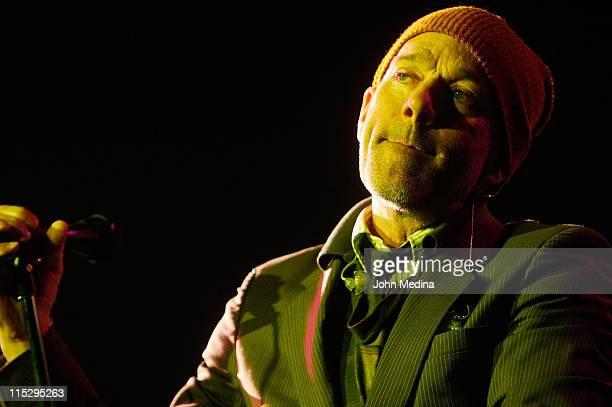 Michael Stipe of REM perfoms at The Greek Theater on the campus of University of California Berkeley on May 31 2008 in Berkeley California
