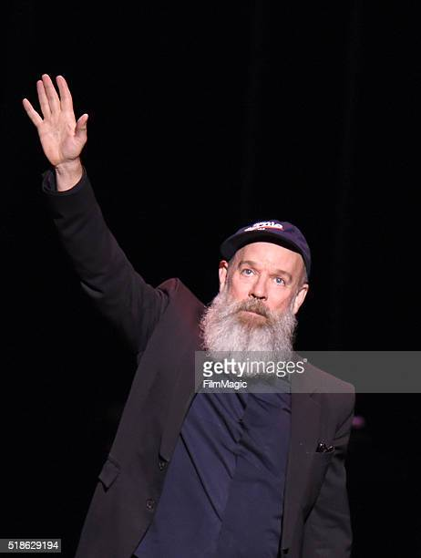 Michael Stipe performs 'Ashes to Ashes' onstage at Michael Dorf Presents The Music of David Bowie at Radio City Music Hall on April 1 2016 in New...