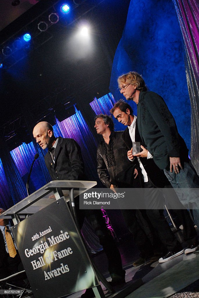 Michael Stipe, Peter Buck, Bill Berry and Mike Mills of R