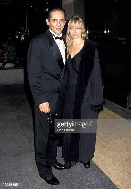 Michael Stone and date during Aviva Center Honors Sharon Stone With 'Spirit of Compassion' at Century Plaza Hotel in Los Angeles California United...